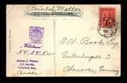 Canada 1906 Mont And Tor Gt Rpo Crisp Cancel Card - L28203
