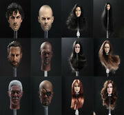 1/6 Female/male Head Sculpt Movie Head Carving For 12 Avengers Action Figure