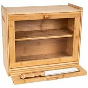 Large Bread Box For Kitchen Countertop Andndash 2-shelf Bamboo Pastry Box With