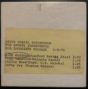 1974 Sports Illustrated Reel Tape Interview Bobby Orr Pete Maravich Willis Reed