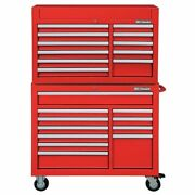 Westward 7cx91 42w Tool Chest And Cabinet Combination 22 Drawers Red 60-1/2h