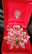 Waterford Crystal Snowflake Wishes 2011 Christmas Tree Ornament Red Box W_hook