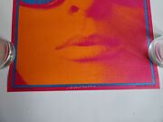 Mint Signed In Ink Victor Moscoso Neon Rose- Nr-12 Op-1 Aor Bg Fd Poster