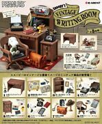 Snoopy's Vintage Writing Room Set Of 8 Complete Box Re-ment Japan New