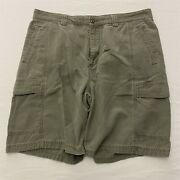 Tommy Bahama 36 X 9 Relax Gray Tencel Blend Flat Front Cargo Shorts