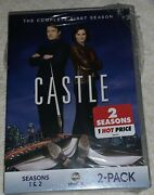 Castle Season 1 And 2 2-pack Dvd, 2017, 8-disc Set Brand New Sealed