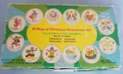 Vintage 12 Days Of Christmas Ornaments Hand Painted 1982 Snp Hong Kong