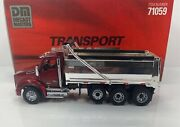 """Diecast Masters 1/50 Scale Kenworth T880 Sbfa Dump Truck """"red And Chrome Version"""""""
