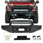 For 2009-2014 Ford F150 Front Bumpe Bumper Guard With Winch Plate Led Light Bar
