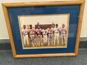 1980andrsquos Bb Hall Of Famers And Stars Signed Photo Framed -12x15iandrdquo Spring Training-