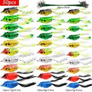 Fish Lures Double Hooks Ray Frog Minnow Crank Artificial Wobblers Silicone Bait
