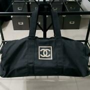 Boston Bag Sports Line Black With Serial Number W66xh25xd32 Canvas Rubber