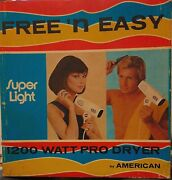 Vintage Free 'n Easy Model 1500 Hair Dryer By American Electric Corp. New In Box