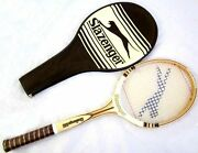 Brand New Very Rare Vintage Slazenger Challenge 100 Wooden Tennis Raquet And Cover