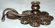Old Candle Hand Rat Cave Miniature Bronze Silver Snake Openwork Xixandegrave