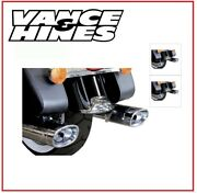 Silencers Vanceandhines Ec Approved Oval Chrome 09 - 16 Harley Touring