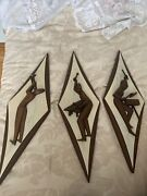Vintage Mcm Burwood Products Co. Figural Jazz Musician Wall Hanging Trio