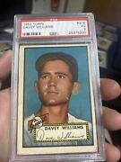 1952 Topps Davey Williams 316 Psa 3 New York Giants High Rare Great Color