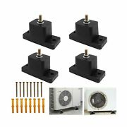 4 Pack Rubber Vibration Isolator, Anti-vibration Air Conditioner Mounting Bra...
