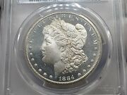1884-cc Morgan Silver Dollar Pcgs Ms64+dmpl Gold Shield Awesome Coin