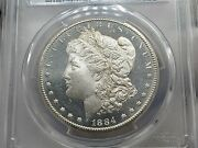 1884-cc Morgan Silver Dollar Pcgs Ms64+dmpl Gold Shield Awesome Coin Low Pop 74