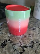 Starbucks Holiday 2020 Pearl Red Pink And Green Ombre Ceramic Cup Mug 8 Fl Oz