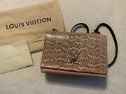 New Exotic Louis Vuitton Lockme Ii Bb Pink Snakeskin And Navy - Mint Condition
