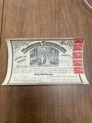 Marriage Certificate State Of Iowa With 5 Documentary Stamps Antique Ephemera