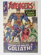 The Avengers Marvel 28 May 1966 1st App Collector Witch Goliath Issue Comic Vf
