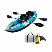 Driftsun Voyager 2 Person Tandem Inflatable Kayak, Includes 2 Aluminum Paddle...