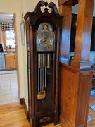 Herschede Five 5 Tube Whittier Grandfather Clock 217 In Mahogany Case