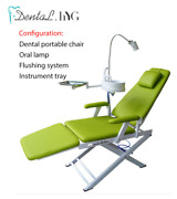 Dental Folding Chair Unit With Air Turbine Unit With Led Oral Lamp With Flushing