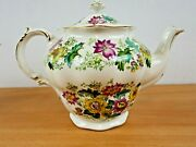 Booths Pottery Victoria Pattern Teapot Near Mint Condition