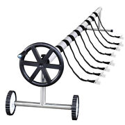 21ft Stainless Steel Extra Long Inground Solar Cover Swimming Pool Cover Reel