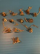 Vintage Lot 13 Tie Tacks Mostly Us Military - Very Collectible Army Items