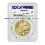 2010 50 American Gold Eagle Pcgs Ms70 25th Year Graded Bullion Coin Wp Label