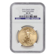 2010 50 Eagle Ngc Ms70 Early Releases American Gold Bullion 1 Ounce Coin Er