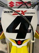 Suzuki Rm250 Carmichael Edition Front And Side Number Plates
