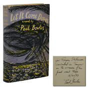 Let It Come Down Signed By Paul Bowles First Edition 1st Printing 1952