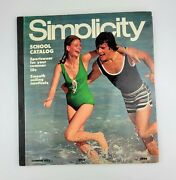 Vintage Simplicity Sewing Patterns School Counter Catalog Book Summer 1972