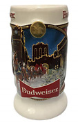 2020 Budweiser Holiday Stein Beer Mug Brewery Lights Gifts Ceramic Collectibles