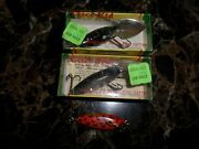 3 Vintage Cisco Kid Lures Crankbaits One With Diamonds And Pink Eyes