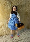 Look Franklin Mint Porcelain Dorothy And Toto Wizard Of Oz Judy Garland Doll Mib
