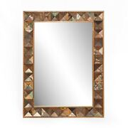 43 X 32.5 Water Color Sanded Mirror Reclaimed Hardwoods Rectangle Rustic Paint