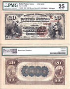 1882 Bb 20 First National Bank Of Belle Plaine, Iowa Fr.499 Ch2012. Pmg Vf25