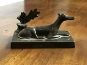 Antique Bronze Model Of A Greyhound Or Whippet
