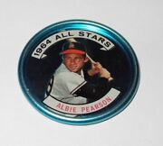 1964 Topps Baseball Coin Pin 132 Albie Pearson Los Angeles Angels All Star