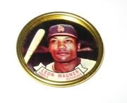 1964 Topps Baseball Coin Pin 6 Leon Wagner Los Angeles Angels Near Mint