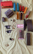 Ho Scale Train Track Turnout Lot Of 40 Bachmann. 8 Trains 3 Buildings 2 Signs.