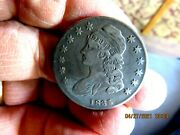 Nice Original High Grade 1835 Capped Bust Rotated Die Silver Half Dollar 2